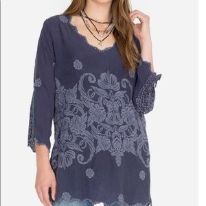 Johnny Was Embroidered Kussi Top